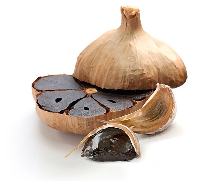 Fermentált fekete fokhagyma, szagtalan vegán és gluténmentes termék
